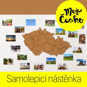 Moje Česko - samolepicí korková nástěnka na vzpomínky z výletů